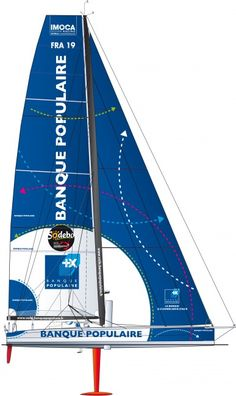 Banque Populaire - The fifth creation of the VPLP/Verdier yacht design firm, the monohull raced in the 2010 Route du Rhum, the latest Barcelona World Race and will be one of most recent boats at the start of the Vendée globe. Since 2011, Armel has learned to control his high-performance mount and claimed victory at the 2012 GP Guyader as well as several podium finishes. ©François Chevalier #VG2012 #VendéeGlobe