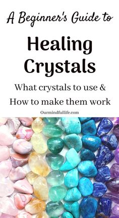 Crystals have various powerful healing properties. If you are a crystal healing beginner, this guide will help you to get crystals to work for you. Meditation Crystals, Healing Meditation, Chakra Healing, Guided Meditation, Chakra Crystals, Crystals And Gemstones, Stones And Crystals, Healing Stones, Crystal Healing
