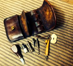 Contemporary Makers: Flint Wallet and Tools by Harry Hawthorne