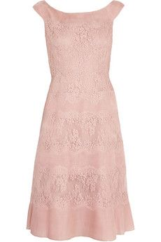 Valentino Lace and pleated silk-organza dress   THE OUTNET