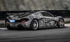 McLaren P1 - Shooting Blue Flames
