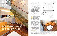 Môjdom, 05/2012, Nad hlavou posteľ, pod nosom rieka, 30-35   RULES Architekti Stairs, Flat, Home Decor, Stairway, Bass, Decoration Home, Room Decor, Staircases, Home Interior Design