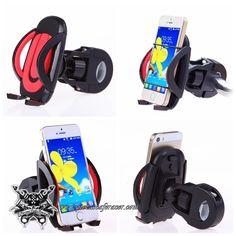 7,01€ - ENVÍO GRATIS - Soporte de Teléfono Móvil Para Manillar de Moto 22mm/25mm Rotable 360º Universal Color Negro