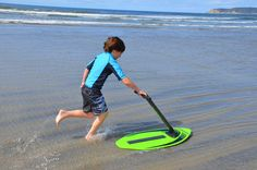 We found this awesome skimboard--easier on kids (and their nervous parents.