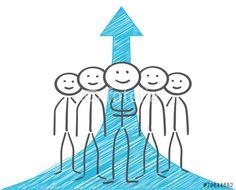 Vektor: people positiv graph