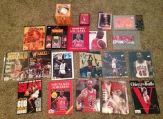 Michael Jordan Bulls Metal Card Photo Magazine Book Basketball Collectible Lot #ChicagoBulls