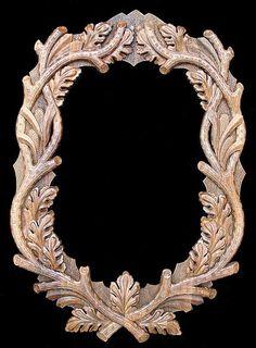 Oval Black Forest Custom Hand Carved Mirror Frame {SPECIAL ORDER!}