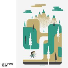flat map Ride to the Hills par Army of Cats