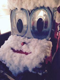 Santa Claus Decorated golf cart. Won  1st prize