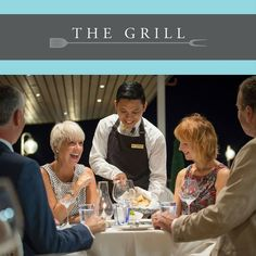The Grill on board Fred. Olsen Cruise Line is perfect for enjoying al-frescos dinning.