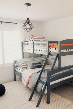 Space Saving Bunk Beds For Small Rooms You Need To Copy In 2019 bunk bed ideas, sharing bedroom ideas, shared bedrooms, space saving room ideas Toddler Bunk Beds, Bunk Beds For Boys Room, Beds For Small Rooms, Bunk Bed Rooms, Big Boy Bedrooms, Bunk Beds With Stairs, Toddler Rooms, Kid Beds, Twin Room