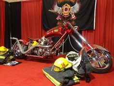 The Orange County Chopper Firefighter Bike on display at the 2012 IAFF Convention in Philadelphia.