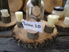 50 rustic place card holders tree card by ChurchHouseWoodworks