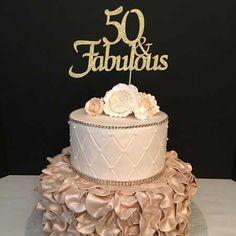 50th birthday cake topper