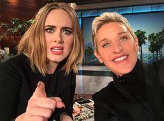 """Adele vai ao programa da Ellen, fala sobre o Grammy, faz pegadinha e canta """"All I Ask"""""""