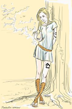 "PhantomRin - art & illustration  Emma, Greek style))  ('the Dark Artifices"" by Cassandra Clare)"
