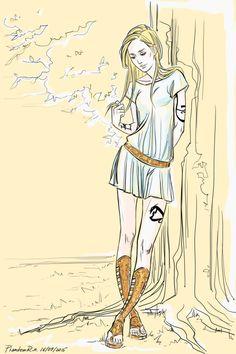 "PhantomRin - art & illustration  Emma, Greek style))  ('the Dark Artifices"" by Cassandra Clare)"