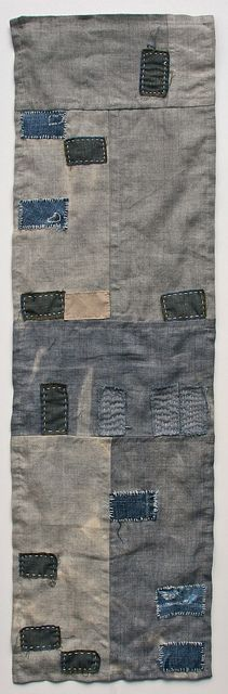 Quilt with running stitch embroidery
