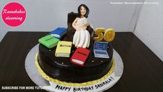 birthday cake for mom mother mummy ma ladies female women design ideas decorating tutorial 50th Birthday Cake For Mom, Happy Birthday Mom Cake, Simple Birthday Cake Designs, Cartoon Birthday Cake, Simple Cake Designs, Birthday Cakes For Women, Wife Birthday, Cake Decorating Classes, Easy Cake Decorating