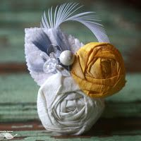 My Wedding Reception Ideas Blog: DIY Fabric Rosette Accessories
