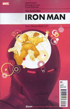 Invincible IRON MAN Vol1 20 (2010) by Salvador LARROCA and Rian HUGHES   Beautiful COVERS of Marvel COMICS