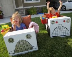 build cardboard cars for a night a the drive - in! This would be so fun in our movie room...or even outside this summer.