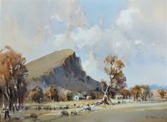Mount Abrupt Dunkeld WC 56 x 76 cm Painted June 2020 (2) Australian Painting, Australian Artists, Watercolor Landscape, Watercolor Paintings, Corporate Awards, Life Drawing, Printmaking, Landscape Photography, Graphic Design