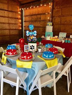 Little Miss Party Planner's Birthday / Paw Patrol - Photo Gallery at Catch My Party Paw Patrol Birthday Theme, 2nd Birthday Party Themes, Puppy Birthday Parties, Party Themes For Boys, Baby Boy Birthday, Circus Birthday, 4th Birthday, Paw Patrol Cake, Paw Patrol Party