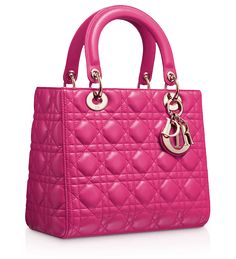 "LADY DIOR - Rose Royale leather ""Lady Dior"" bag"