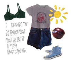 """""""Untitled #16"""" by a-toadstool ❤ liked on Polyvore featuring Converse and American Apparel"""