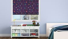 Space #rollerblinds #windowtreatments #windows #decor #interior #design #kids #space #galaxy #pattern #DIY #printed @decoshaker