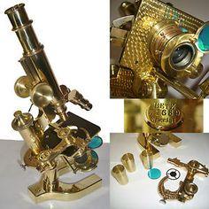 1904 Bausch & Lomb Continental Antique Microscope Wetzlar leica vintage
