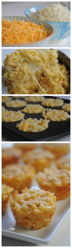Deliciously food.  Easy Mac and Cheese muffins!!!