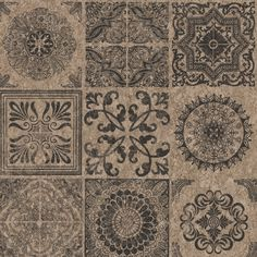 This wonderful detailed cork design wallpaper will defiantly create a statement in any room Featuring a black stamp tile effect finished in a lovely vintage rustic look #wallpaperdepot #wallpaper #interior #interiordesign #interiordecor #walldecor #home #homedecor #design #diy #renovation #wallart #bedroom #livingroom #kitchen #bathroom #hallway #metallic #geometric #rustic #vintage #stamps #cork #medallion #tile #tileeffect Beige Wallpaper, Wall Wallpaper, Geometric Decor, Pattern Matching, Graham Brown, Designer Wallpaper, Cork, Home Accessories, Interior Decorating
