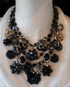 ** Colossal Necklace. Black is WEAR it is AT. Ship Me YouR DeSTasH. Cost for a Kay Adams Customized Necklace w/ YouR Items. YUMM.