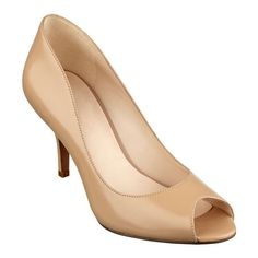 """Soft leather styles our Orissa peep toe pumps sitting atop a slim heel. Padded footbed for all-day comfort. Leather upper. Man-made lining and sole. Imported. 3"""" mid heels. Be sure and see our entire collection of mid heel peep toe pumps."""