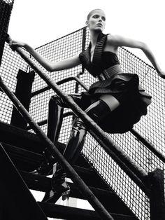 Manhattan Rooftop: Alisa Ahmann by Txema Yeste for Numéro September 2015 - Balmain Fall 2015
