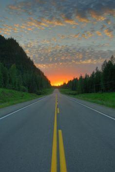 Empty Highway - Prince George, British Columbia