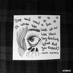 Day 29: 505 - Arctic Monkeys #365lyricschallenge #arcticmonkeys #505 #typography