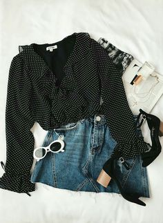 Trendy Spring Outfits That Will Enchant You Tumblr Fashion, Fashion Mode, Look Fashion, Fashion Design, Fashion Trends, Feminine Fashion, Fashion Ideas, Cheap Fashion, Fashion Styles