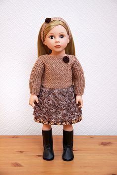 Gentle rose outfit for American Girl Bonnie and by StassyDodge