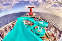 The #Carnival Freedom from the top of the waterslide. Um, this is a waterproof camera, right?