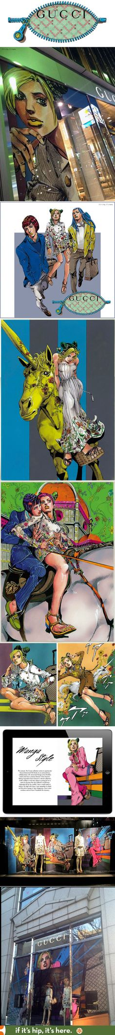 Gucci Goes Manga in this collaboration with Hirohiko Araki. | http://www.ifitshipitshere.com/gucci-goes-manga/