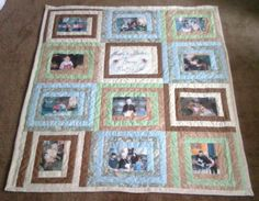 memory photo quilt throw by Just4umadebyme on Etsy, $100.00