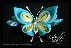 kanzashi butterfly -