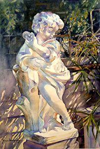 "The Guardian - Original Watercolor Painting by Yvonne Hemingway Watercolor ~ 26"" x 20"""