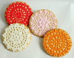 lace doily cookie