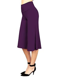 New Trending Pants: MBJ WB876 Womens Knit Culottes Pants L DARK_PURPLE. MBJ WB876 Womens Knit Culottes Pants L DARK_PURPLE   Special Offer: $11.17      422 Reviews You can't beat the allure of a classic moto jacket, and this faux leather one is refined and sleek with style to spare. It features panelled design body, with two zippered front pockets and a...