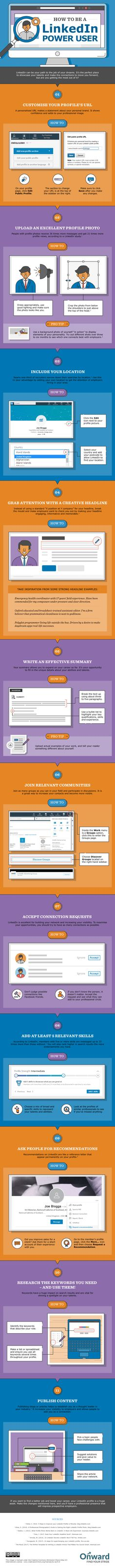 How to Become a LinkedIn Power User - #infographic