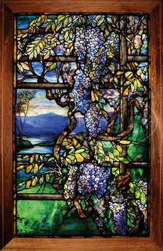 Tiffany Studios Wisteria window